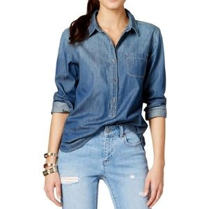 Vince camuto denim  blouse Xs